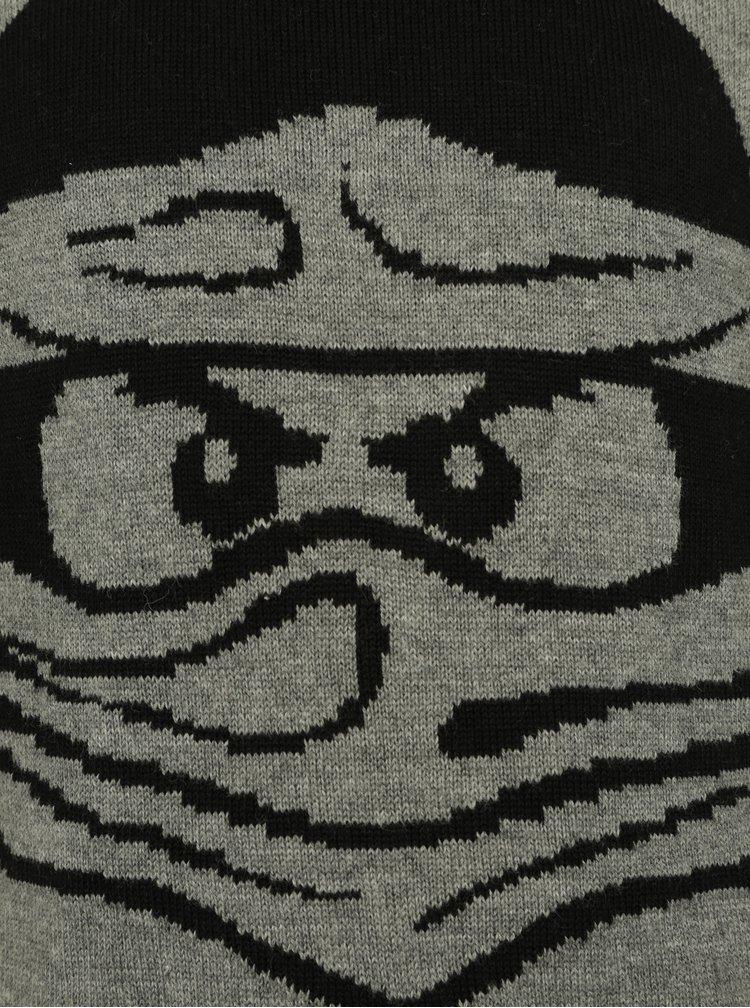 Tmavě šedý klučičí svetr Ninjago Lego Wear Kyle