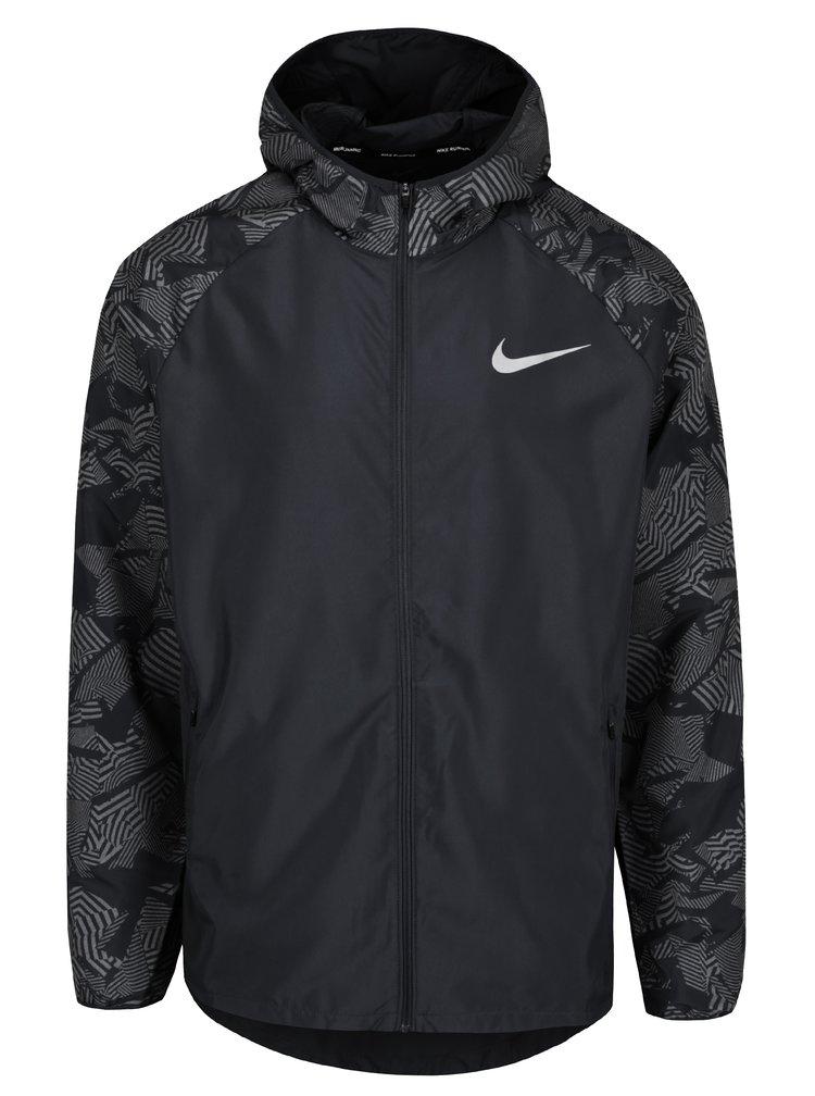 Černá vzorovaná pánská funkční bunda Nike