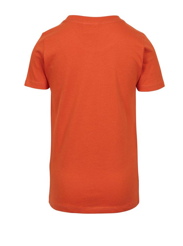 Oranžové klučičí tričko s potiskem Ninjago Lego Wear Teo