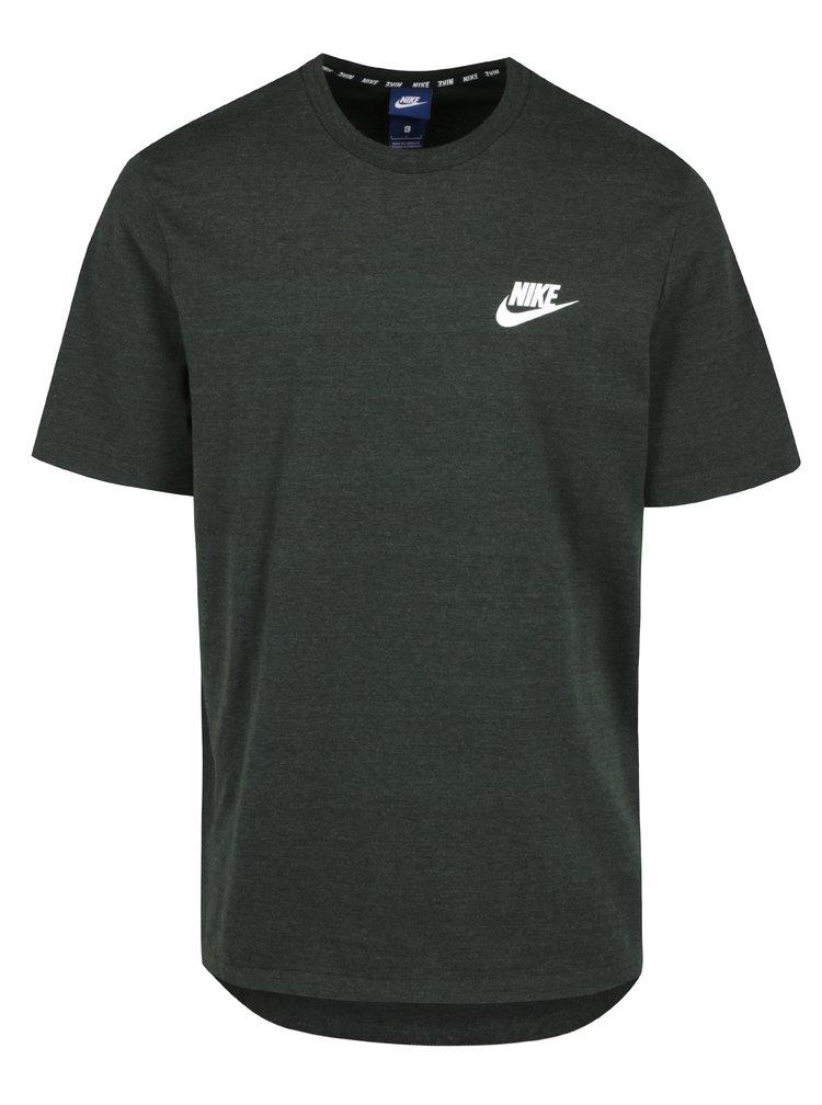 Zelené žíhané pánské tričko s krátkým rukávem Nike