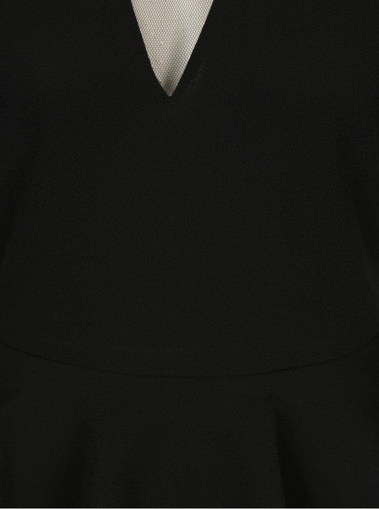 Černé šaty s volánkem ONLY Lona