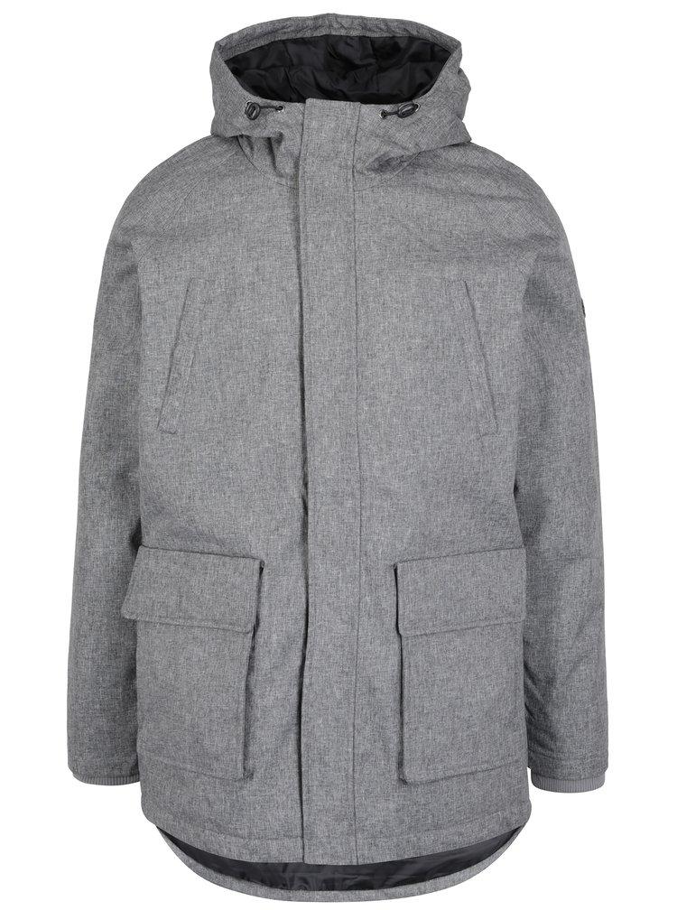 Sivá zimná melírovaná bunda ONLY & SONS Frode