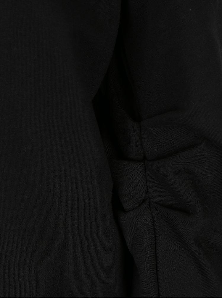 Černá mikina s potiskem a nařasenými rukávy ONLY Beatrice