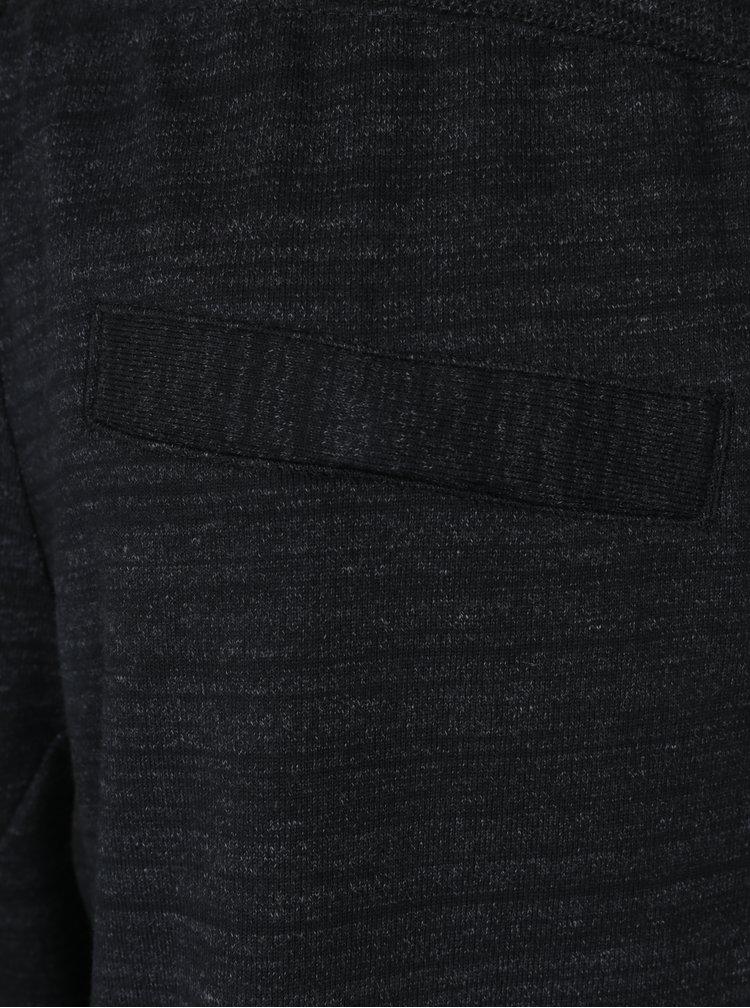 Pantaloni sport gri melanj inchis slim pentru barbati Nike