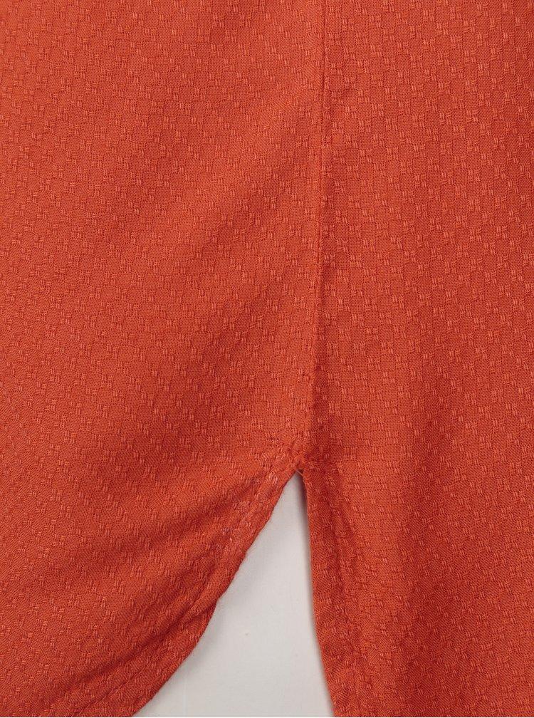 Camasa oranj cu guler mao si nasturi - Blendshe Jose