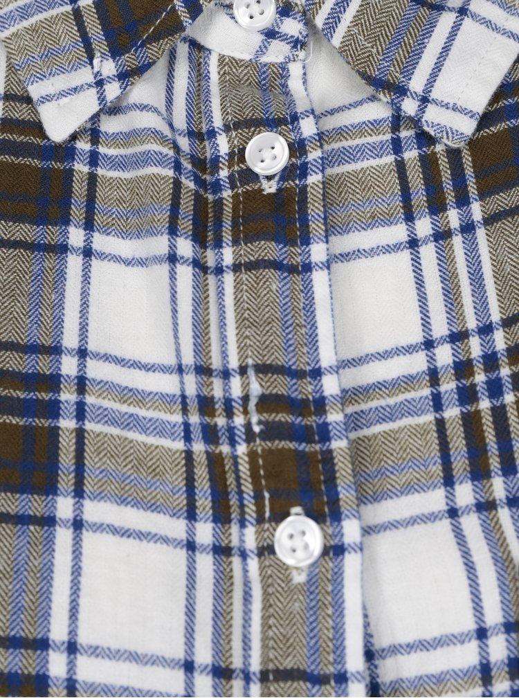Krémová károvaná košile Blendshe Lucy