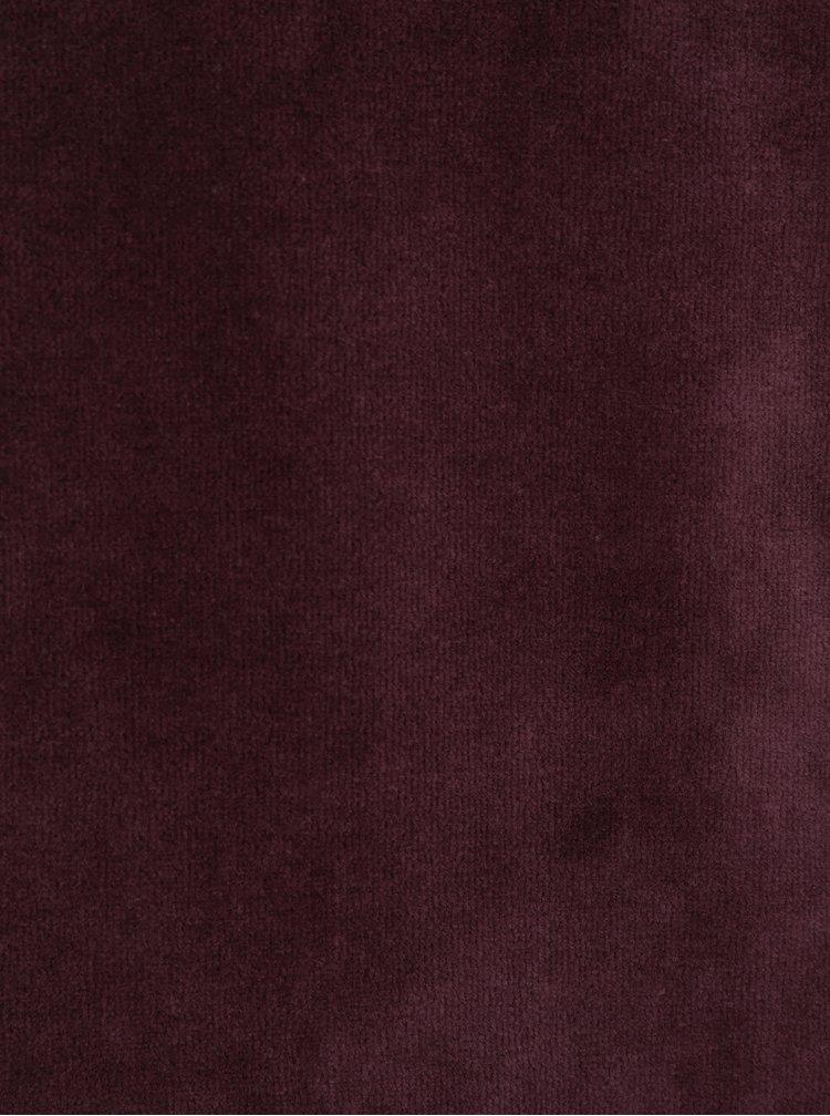 Vínová mikina v sametové úpravě ONLY & SONS Theo