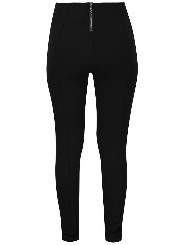 Černé kalhoty se zipy na nohavicích ONLY Evie