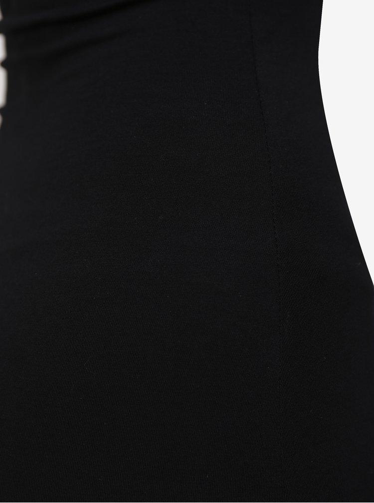 Černé šaty na ramínka MISSGUIDED