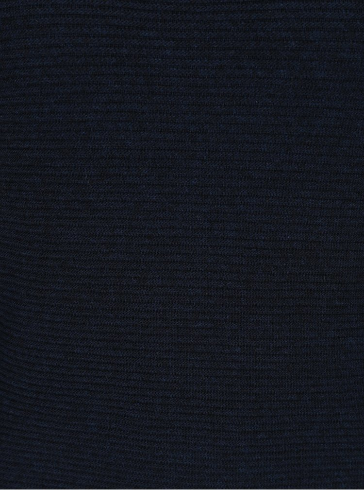 Tmavě modré svetrové šaty s 3/4 rukávem ONLY Filippa