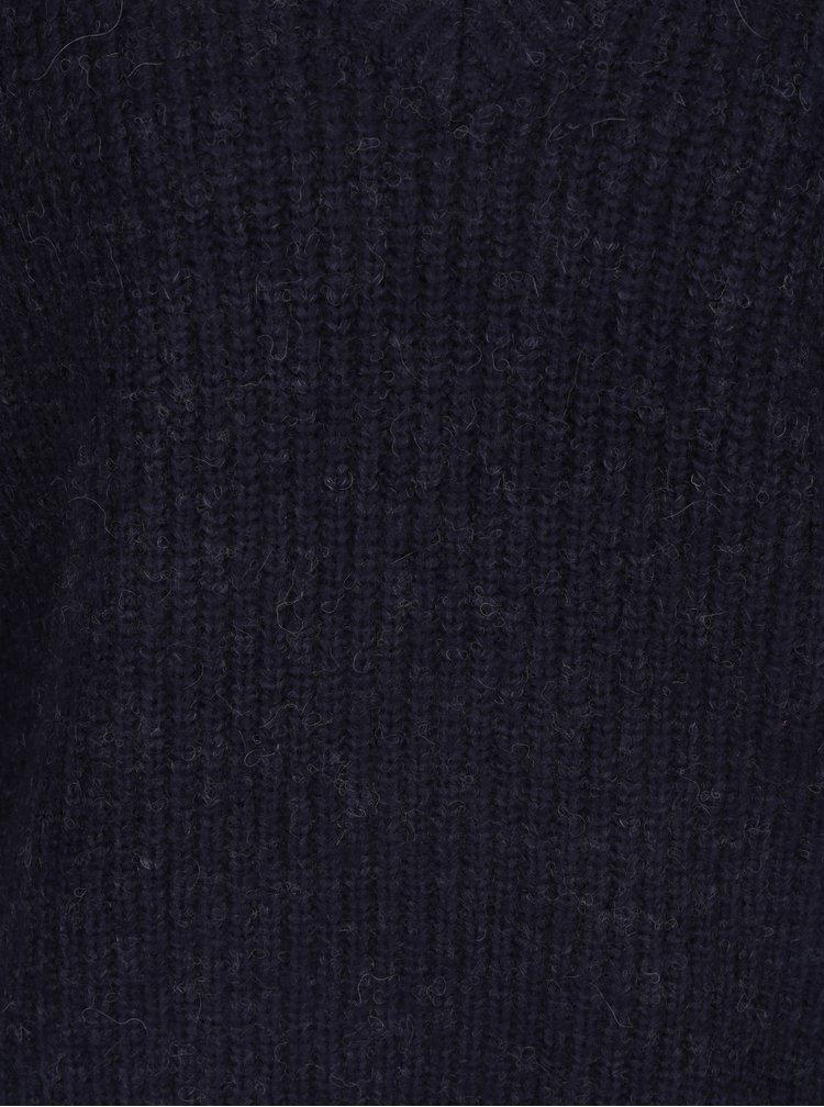 Pulover bleumarin cu decolteu anchior - Blendshe Khloa