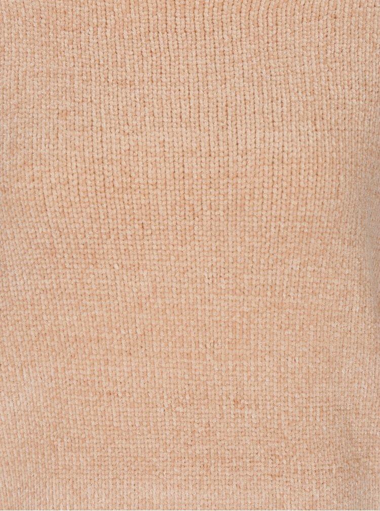 Pulover roz pal cu umeri cazuti - Blendshe Cheni