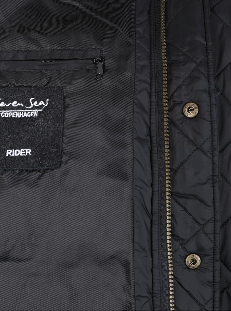 Černá prošívaná bunda Seven Seas Rider