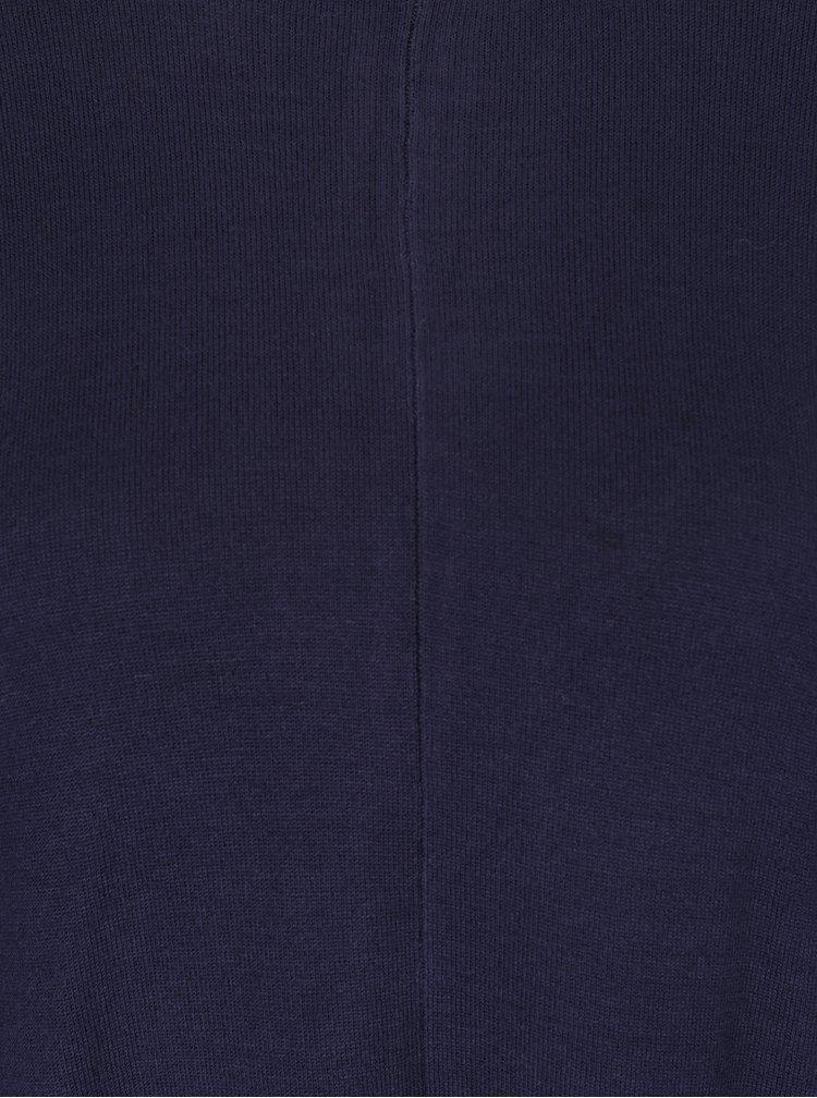 Pulover subtire bleumarin cu fermoar pe partea din spate -  Blendshe Jessie