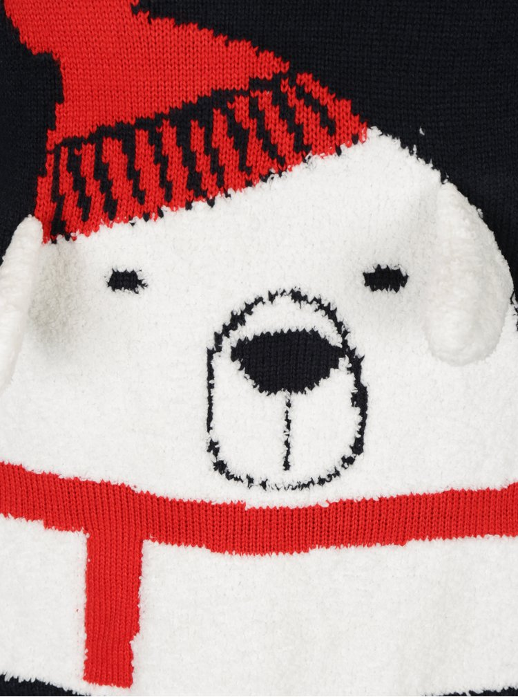Pulover albastru inchis cu model urs polar ONLY Polar Bear