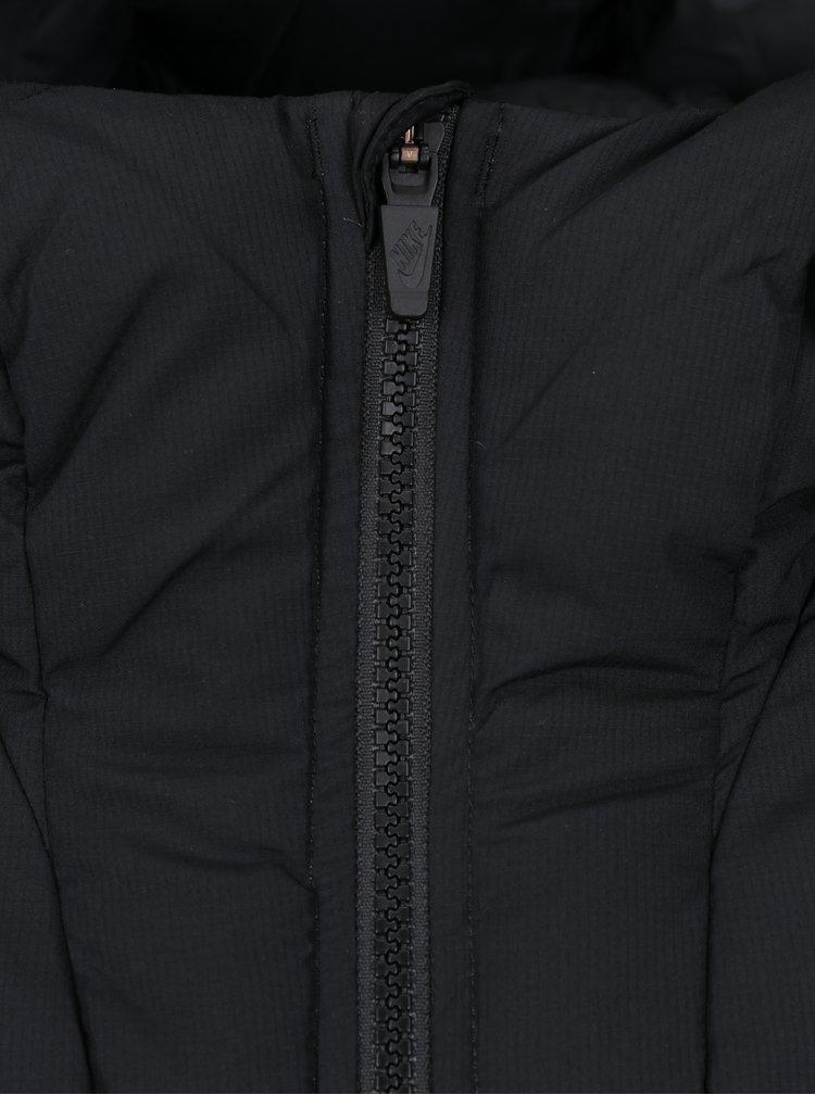 Černá pánská prošívaná péřová vesta s kapucí Nike Sportswear Down