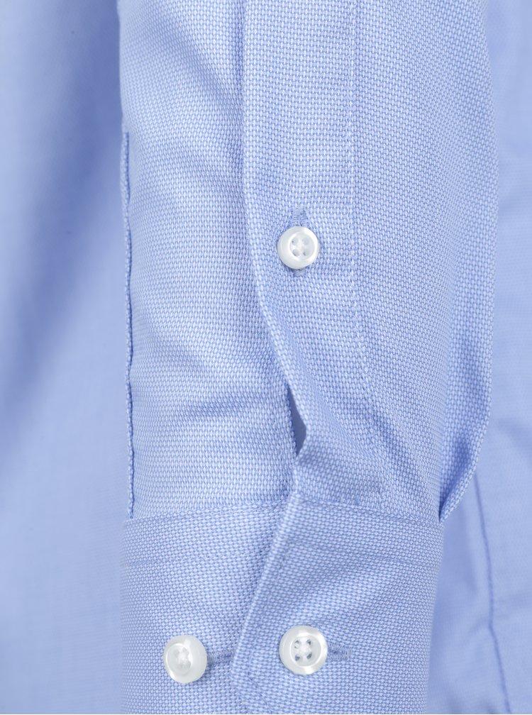 Světle modrá vzorovaná formální košile Seven Seas Dobby