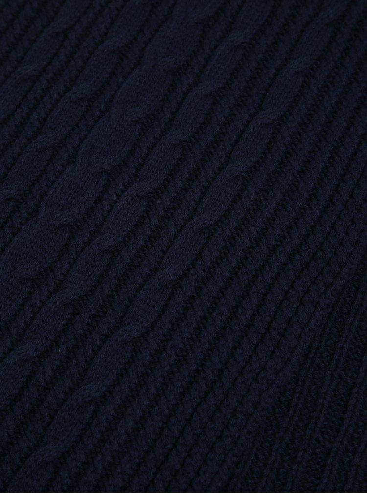 Tmavě modrá pánská šála GANT