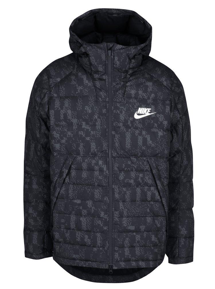 Geaca neagra matlasata cu fulgi pentru barbati Nike