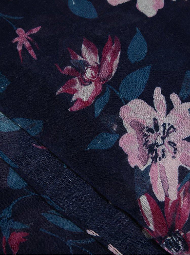 Fialový dámský květovaný šátek GANT