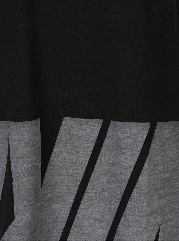 Tricou negru cu print pentru femei - Nike