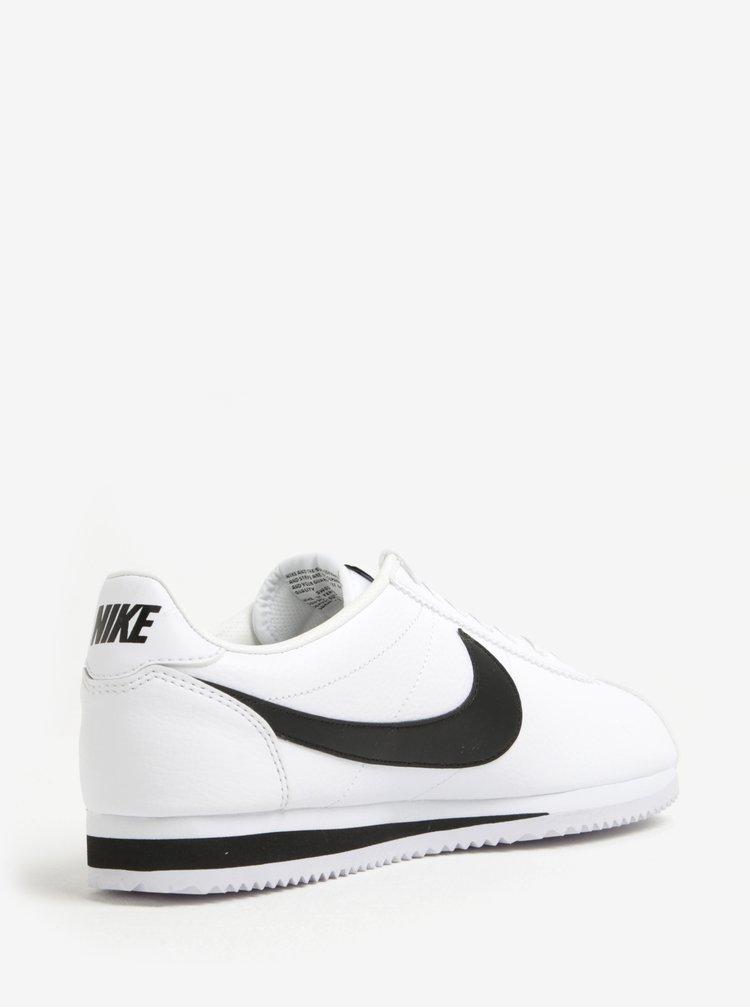 Černo-bílé pánské kožené tenisky Nike Classic Cortez
