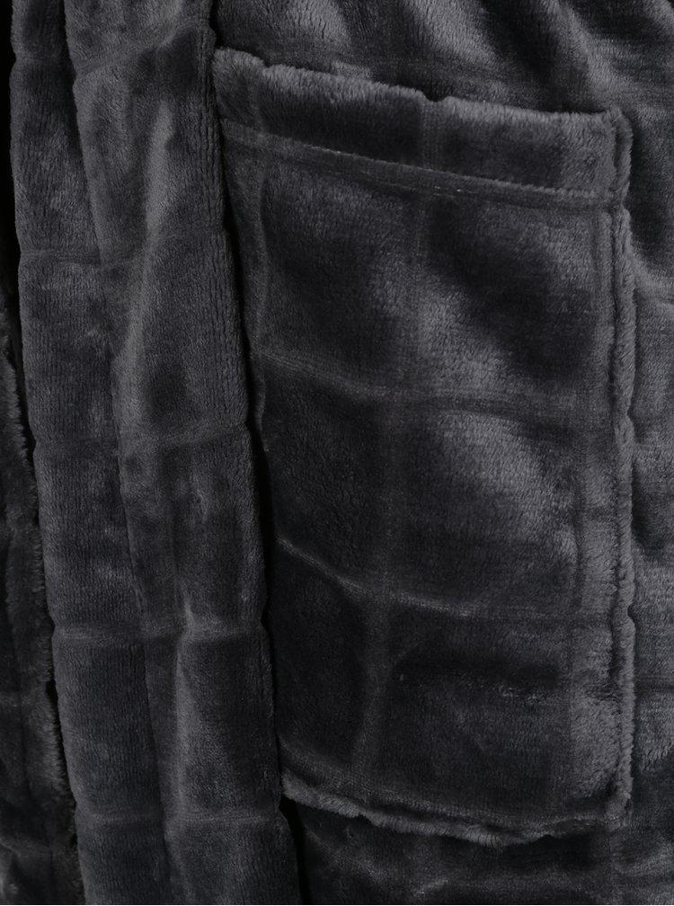 Tmavě šedý pánský župan M&Co