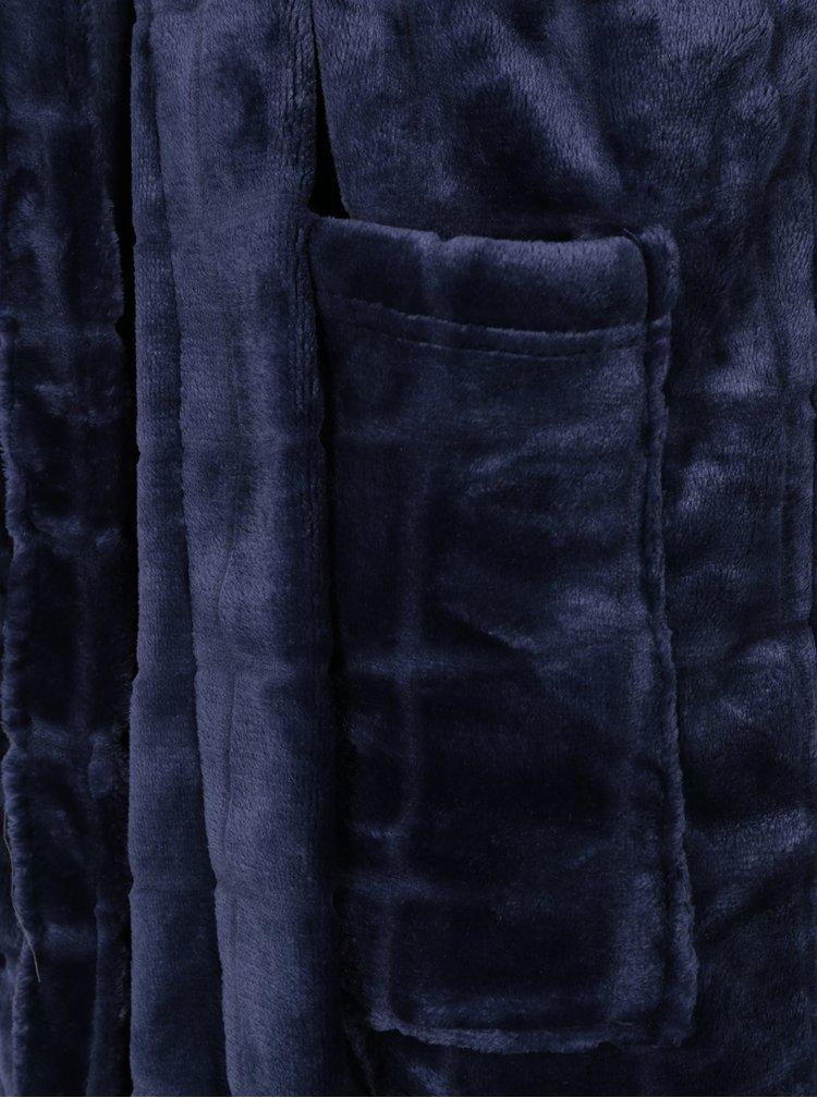 Tmavě modrý pánský župan M&Co