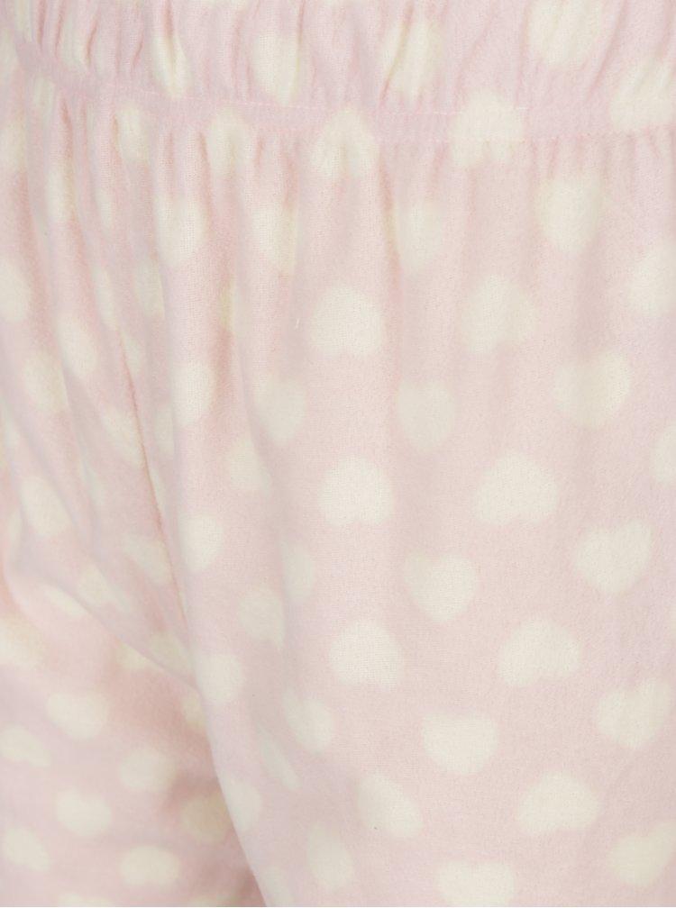 Světle růžové dámské pyžamo s motivem sovy M&Co