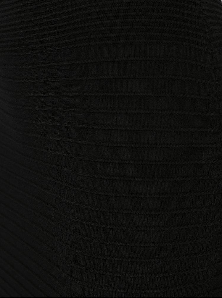 Černá žebrovaná pouzdrová sukně M&Co