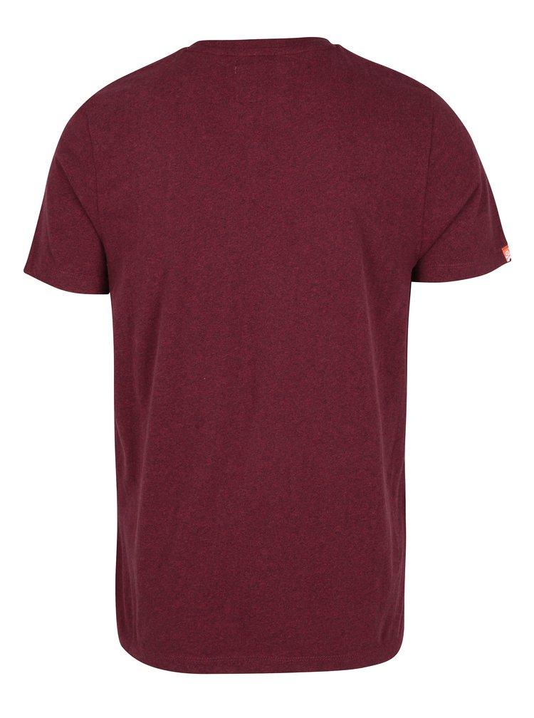 Tricou bordo din bumbac cu logo brodat pentru barbati -  Superdry Orange
