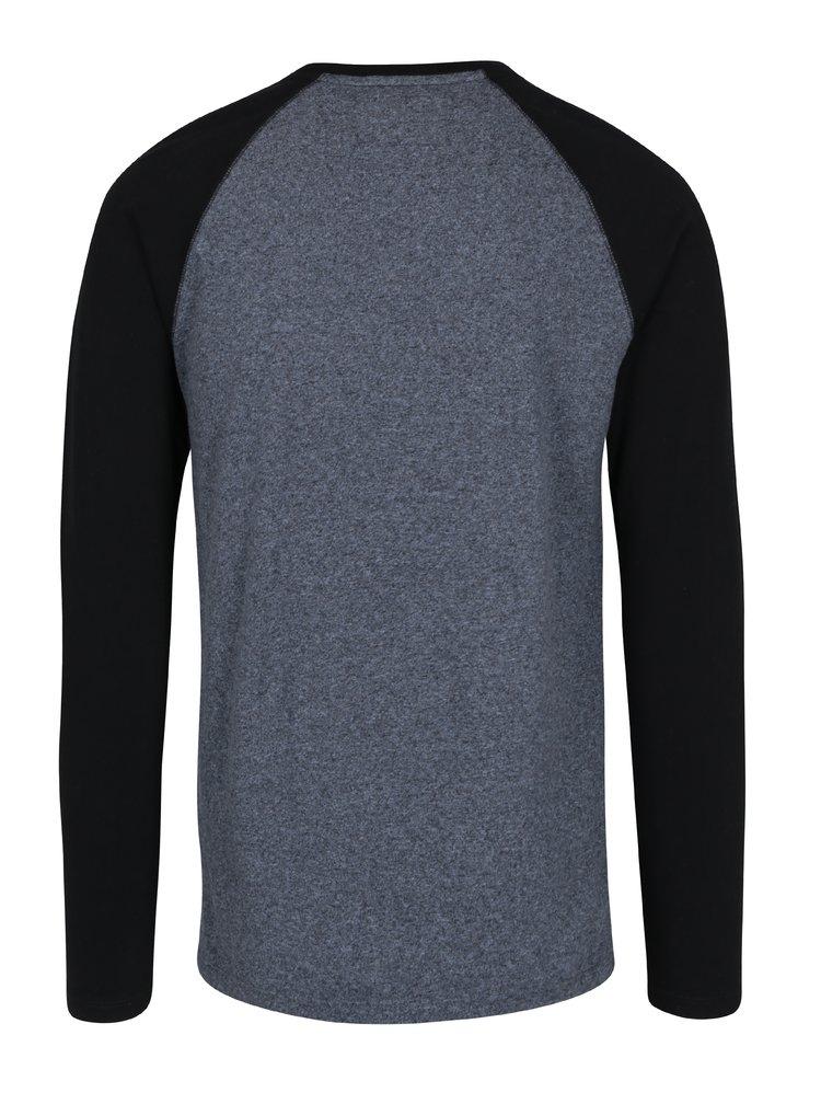 Bluza din bumbac cu maneci raglan albastru & negru pentru barbati - Superdry Orange