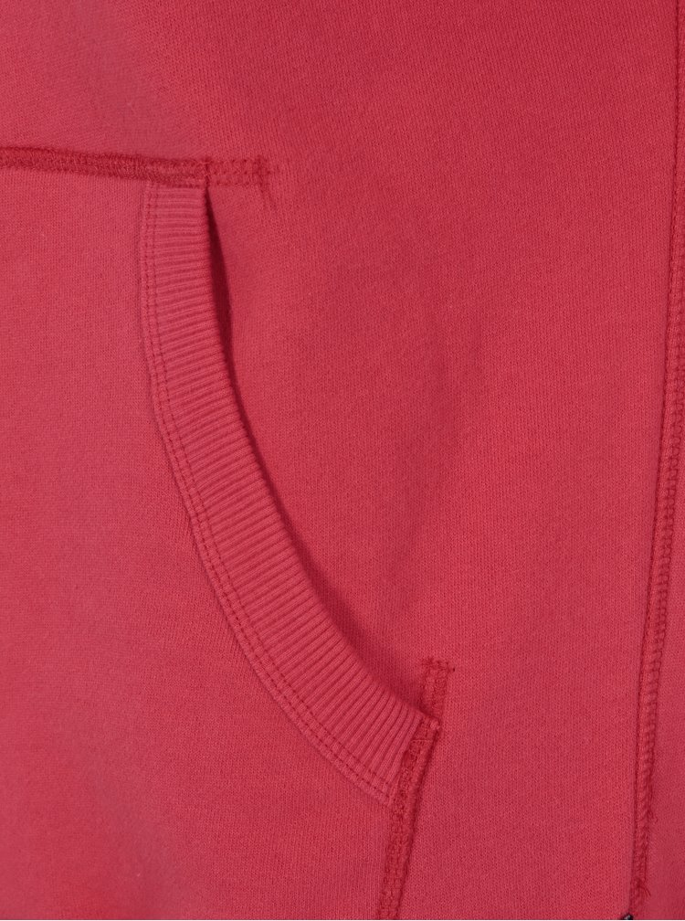 Hanorac rosu cu gluga si print pentru barbati -  Superdry Vintage