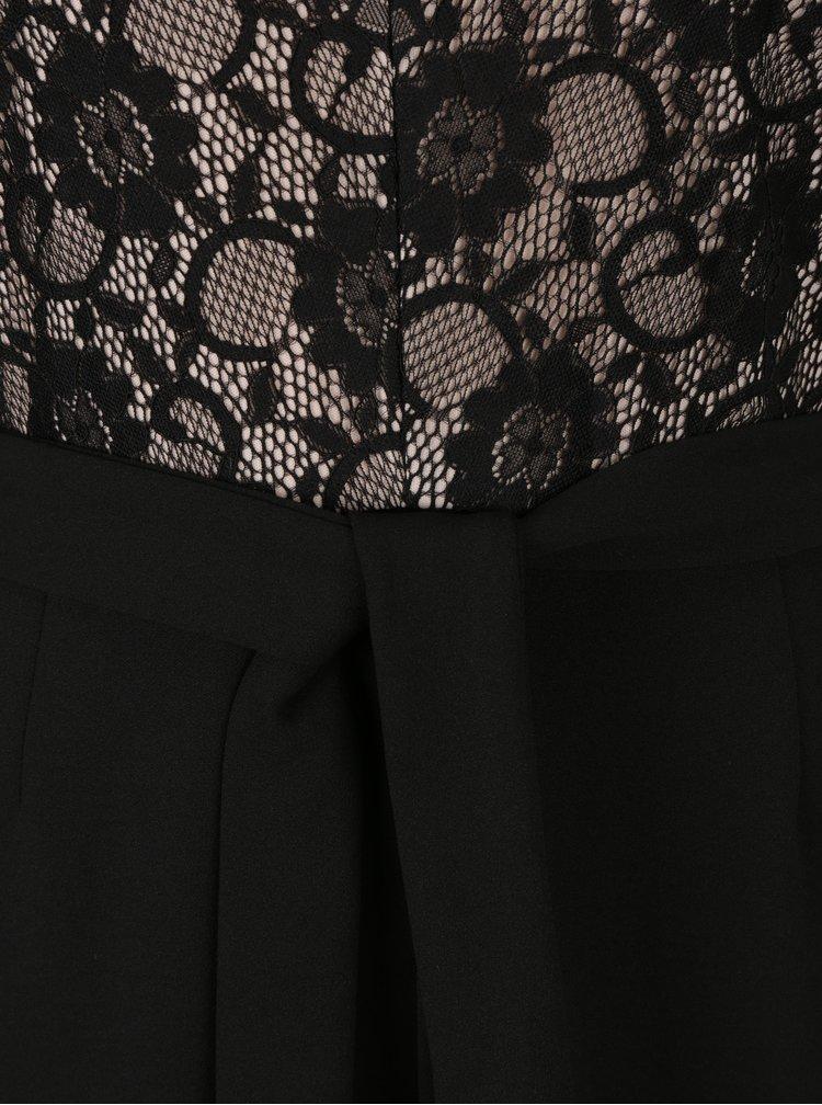 Černý overal s krajkovým topem M&Co