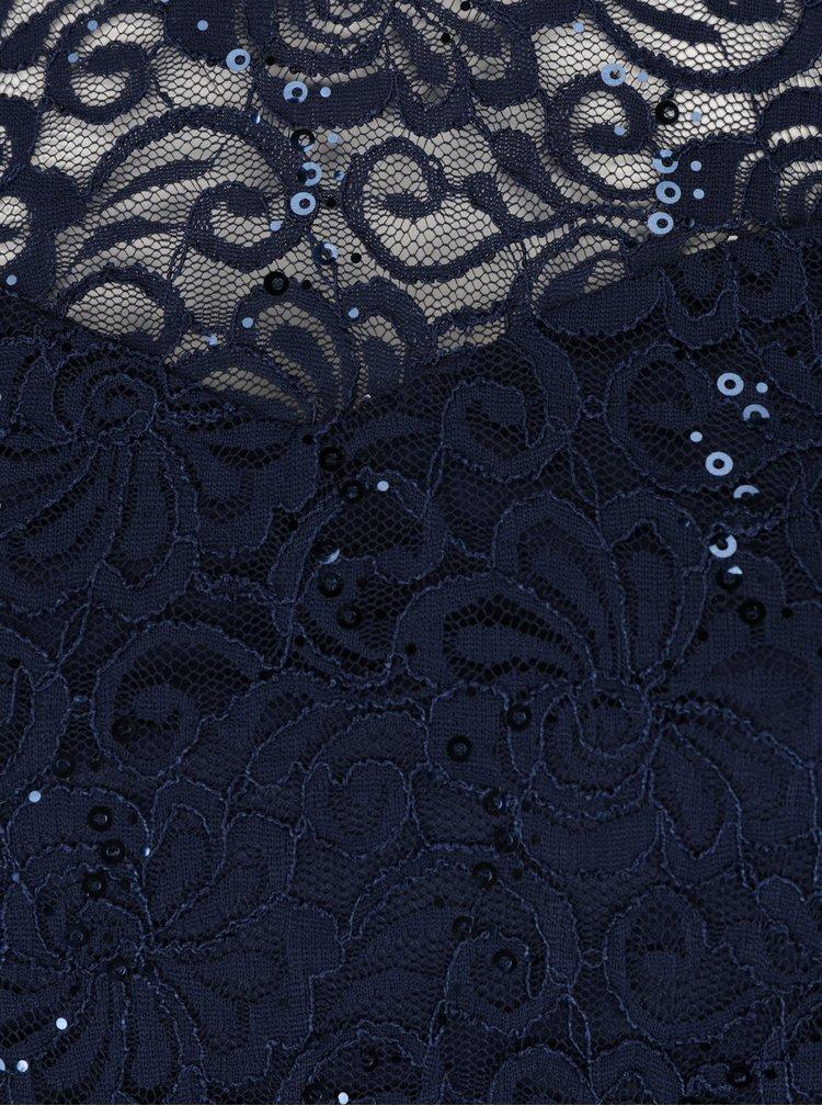 Tmavě modré krajkové šaty s flitry M&Co