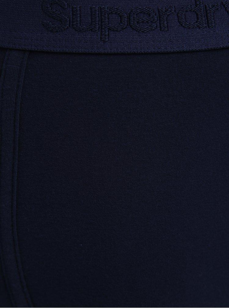 Sada tří vzorovaných boxerek v tmavě modré a šedé barvě Superdry O.L Sport
