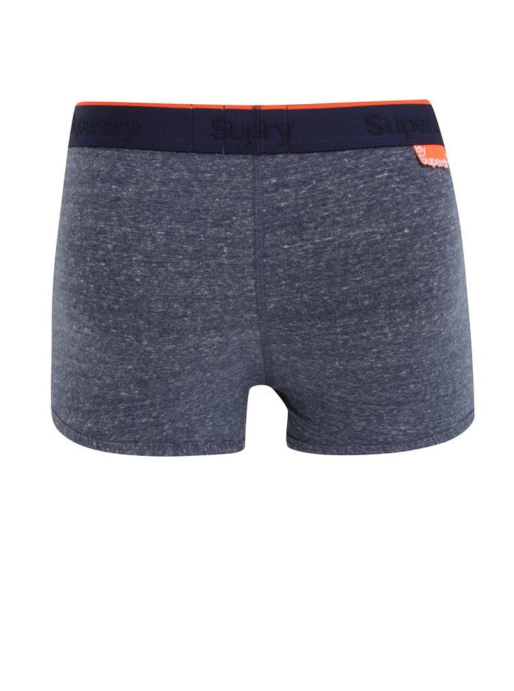 Set de 3 perechi de boxeri albastru & gri cu talie elastica si logo - Superdry O.L Sport