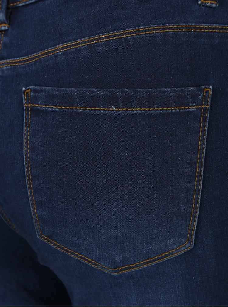 Modré jeggings s vysokým pasem M&Co