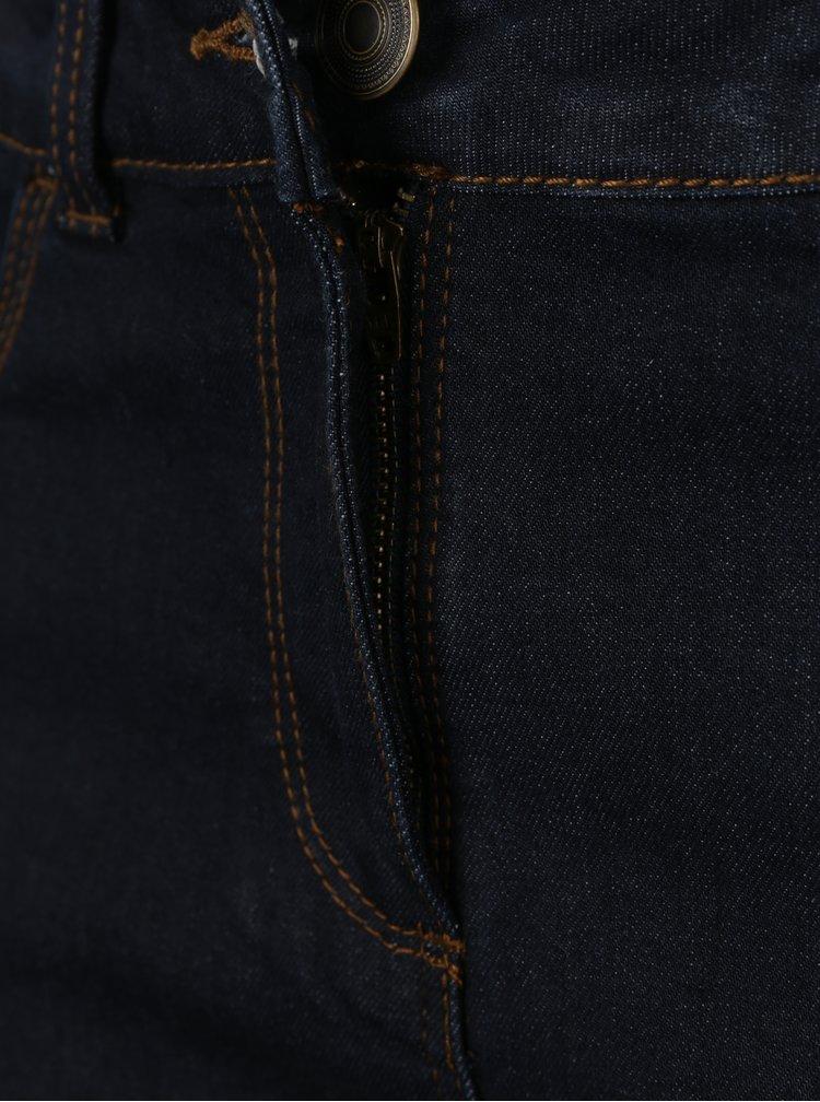 Blugi slim fit albastru inchis cu talie inalta M&Co