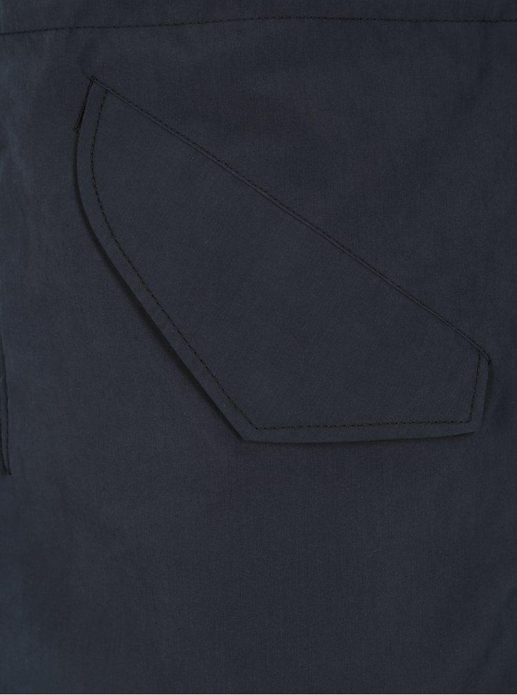 Geaca parka bleumarin cu interior imblanit si gluga pentru barbati -  Jack & Jones Premium Alex