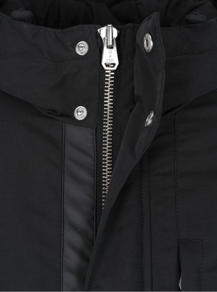 Geaca parka neagra de iarna cu gluga si talie ajustabila -  Jack & Jones Core Figure