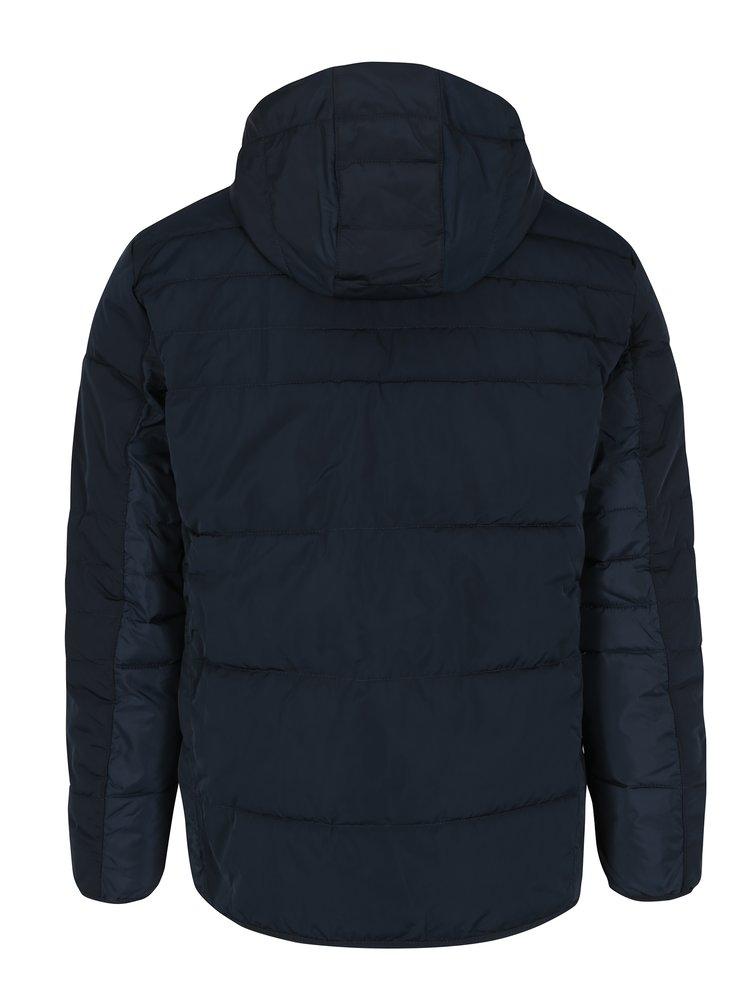Tmavě modrá prošívaná bunda s kapucí Jack & Jones Core Bin
