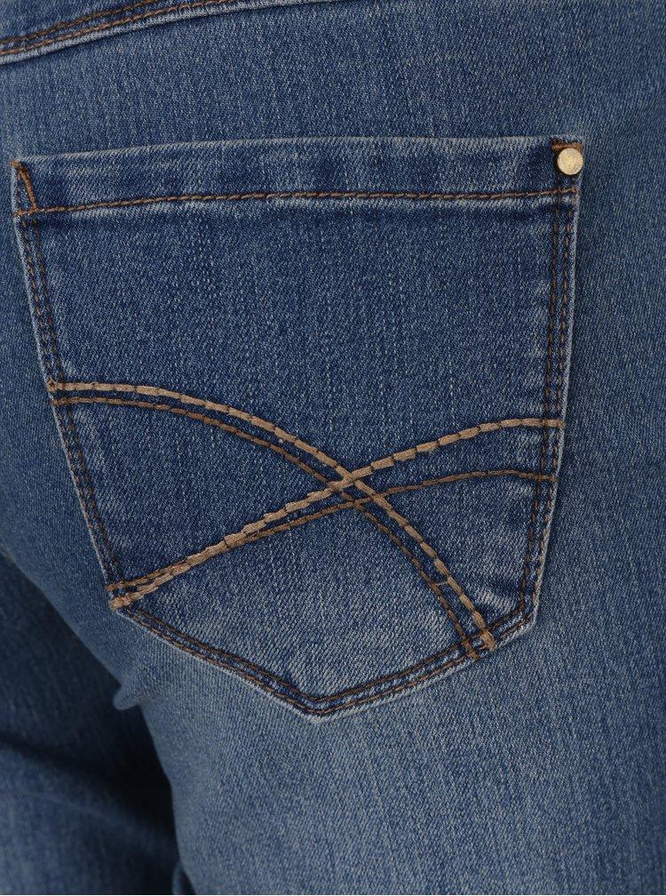Modré dámské žíhané slim džíny M&Co