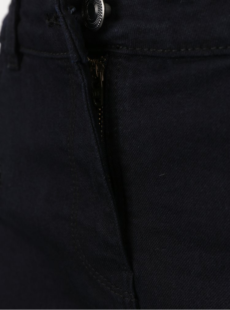 Tmavě modré slim fit džíny s ozdobnými zipy M&Co