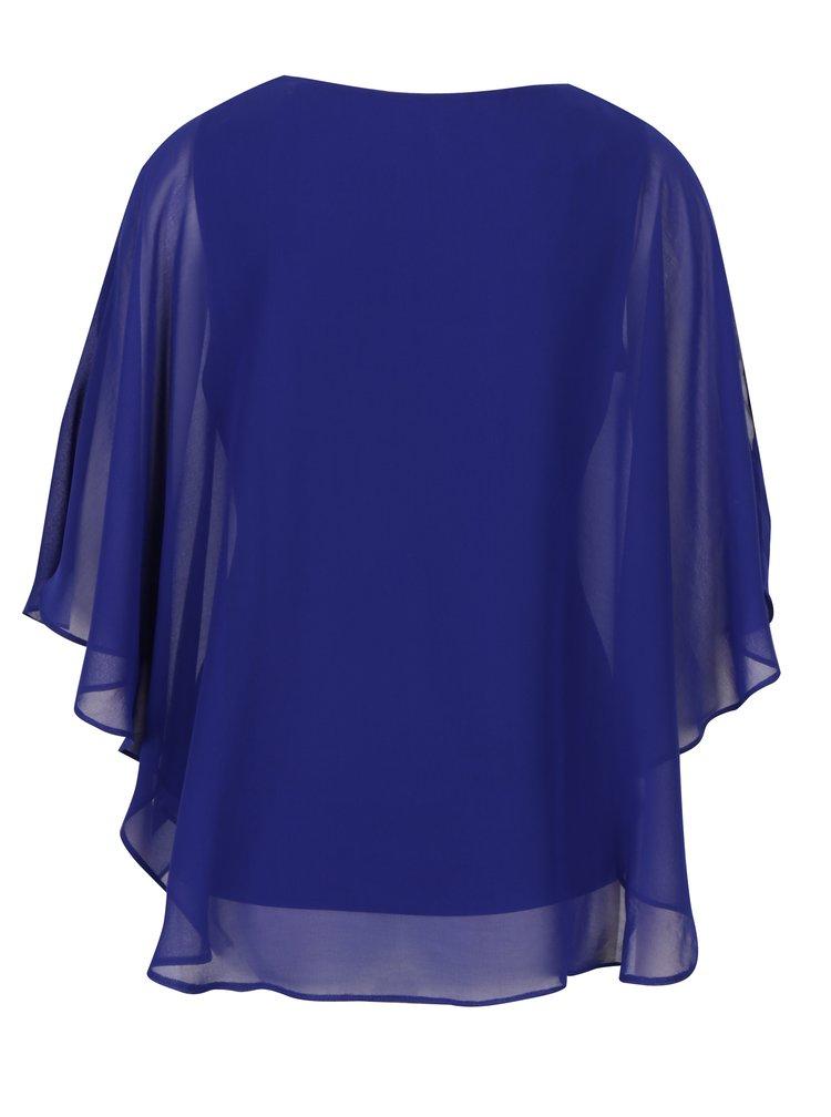 Modrá halenka s netopýřími rukávy a kamínky M&Co