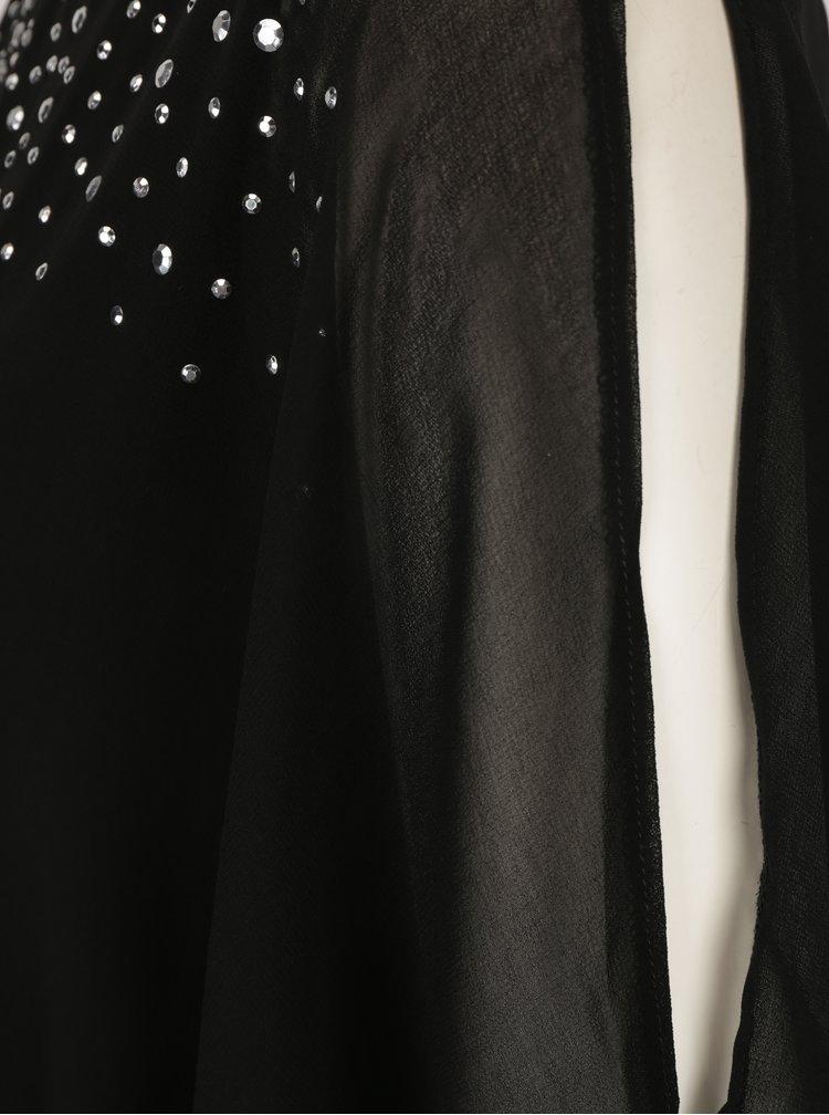 Černá halenka s netopýřími rukávy a kamínky M&Co