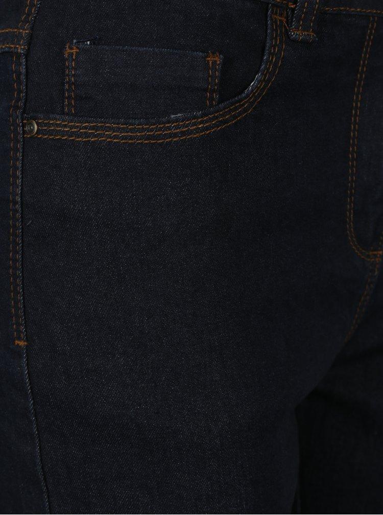 Blugi drepti cu talie inalta albastru inchis M&Co
