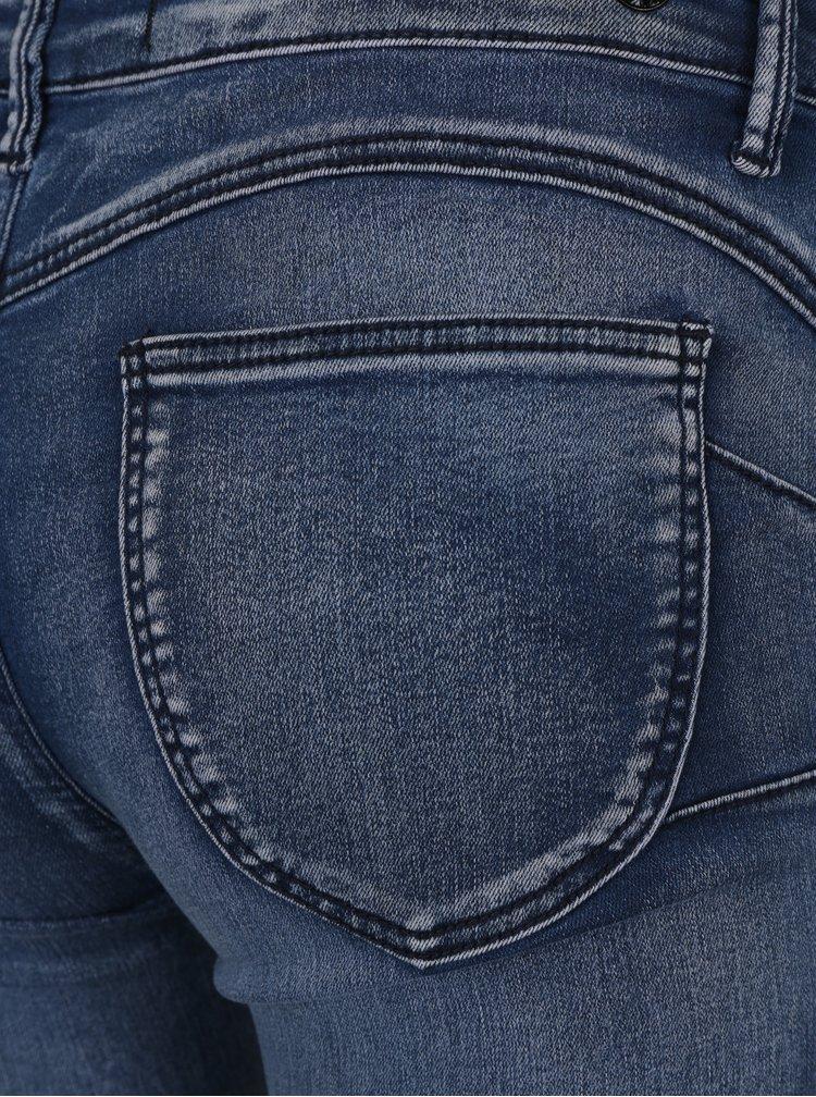 Blugi skinny albastru inchis cu efect de push up si aspect prespalat - TALLY WEiJL