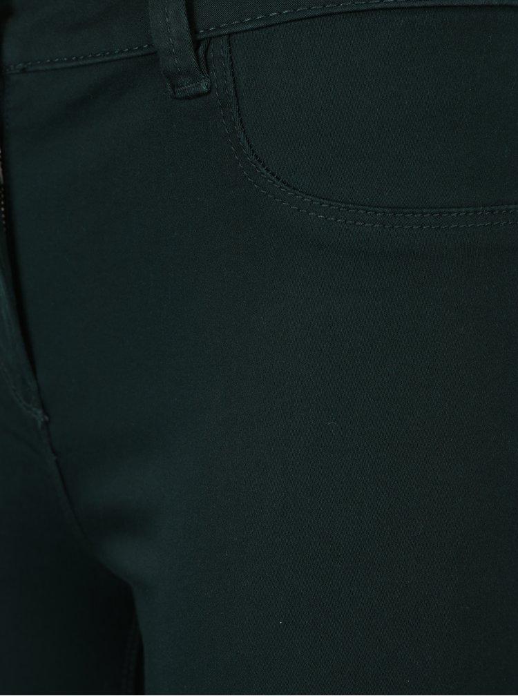 Tmavě zelené jeggings s vysokým pasem M&Co