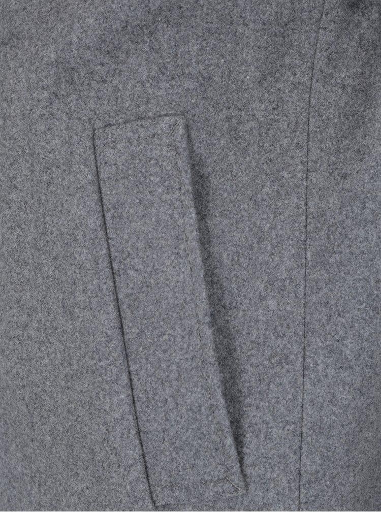 Palton gri din amestec de lana - Jack & Jones Premium Martin
